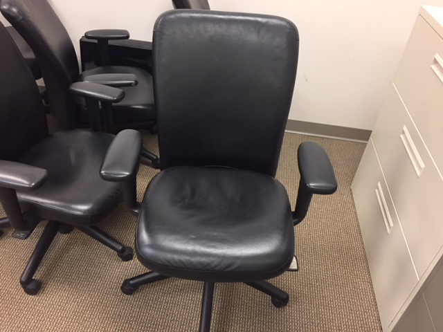Pre Owned Leather Haworth Look Chairs